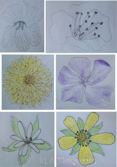 Have some fun drawing flower shapes!
