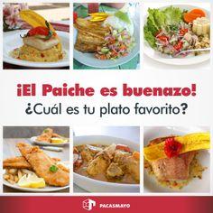 ¿Sabías que el Paiche es criado sin hormonas, tienen 10% mayor valor proteico y es pura carne blanca sin espinas? ¡Es buenazo! ¿Cuál es tu plato favorito de Paiche?