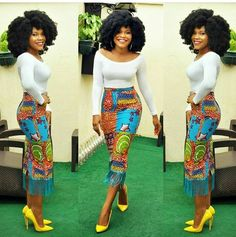 African fashion is fast becoming the new cool around the world. Here are Best African Print Dresses and Classic Ankara Styles for Ladies. African Print Skirt, African Print Dresses, African Fashion Dresses, African Dress, African Prints, Ankara Fashion, Nigerian Fashion, Ghanaian Fashion, Fashion Outfits
