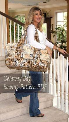 (9) Name: 'Sewing : Getaway Travel Duffle Bag Tote
