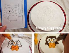 Transfer an image onto a cake using piping gel