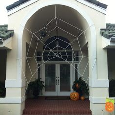 Halloween entry spiderweb