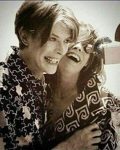 "vezzipuss.tumblr.com — David Bowie & Candy Clarke, ""TMWFTE"", Circa 76..."