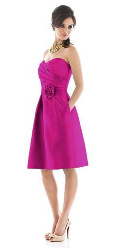 Alfred Sung Bridesmaid Dresses - Style D498 - Peau de Soie | Weddington Way  | Weddington Way, $170