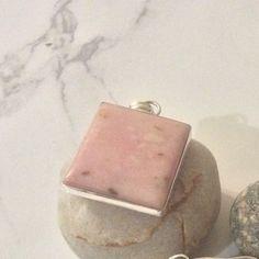 Boho Genuine Pink Opal Silver Necklace by AshleyRoseColective on Etsy.