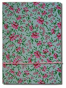 #Notebook with red flowers - A #handmade diary is the perfect #gift for anyone passionate about writing, sketching and painting, along with the taste for the genuine and authentic.