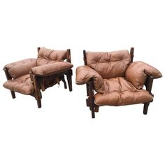 """Pair of Sergio Rodrigues """"Mischievous"""" Moleca Lounge Chairs 