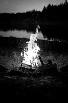 bonfires at night :)