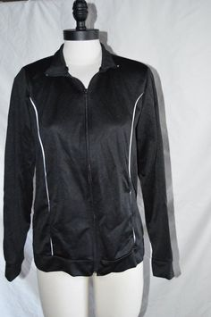 WOMANS BLACK JACKET SIZE S(6) #BOBBIEBROOKS #BasicJacket