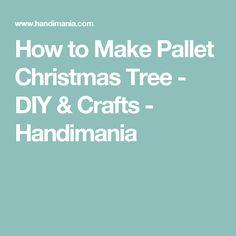How to Make Pallet Christmas Tree - DIY & Crafts - Handimania