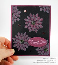 Stampin' Up! Flourishing Phrases Black Magic card created by Dawn Olchefske Easy Magic Tricks, Free Cards, Card Tricks, Paper Crafts, Diy Crafts, Magic Cards, Black Magic, Flower Cards, Flourish