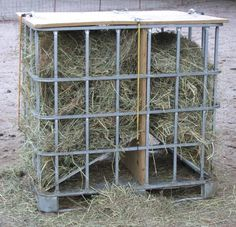 homemade hay feeder - Google Search