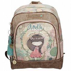 Anekke mochila escolar c/muñeca beige #Anekke #mochila #escolar #c/muñeca #beige