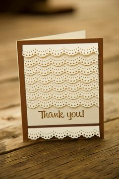 Lace Thank You Card by TheCraftyMedic on Etsy, $4.00