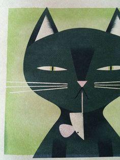 Cat and mice illustration