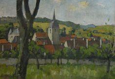Ecole française du début du XXe siècle | Paysage de Bourgogne I Daguerre