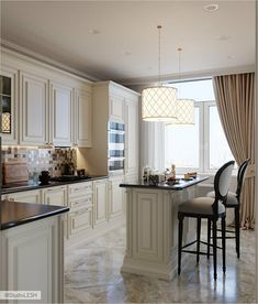Kitchen Room Design, Kitchen Cabinet Design, Modern Kitchen Design, Home Decor Kitchen, Kitchen Interior, Home Room Design, Kitchen Ideas, Fancy Kitchens, Luxury Kitchens