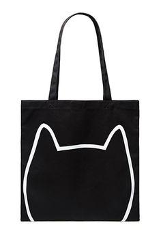 Cat Face Graphic Eco Tote