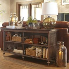 Love the Console table decor.... for living room, entry way or even the hallway!