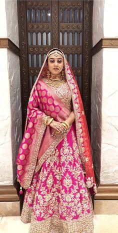 Indian Bridal Couture, Indian Bridal Outfits, Bridal Dresses, Pink Lehenga, Lehenga Choli, Wedding Lehenga Designs, Lehenga Jewellery, Bridal Lehenga Collection, Bridal Dress Design