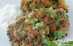 Оладьи из брокколи и лосося | Кулинарные рецепты от «Едим дома!»