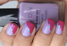 """Just did something really similar to this only with baby pink and a """"perry the platapus"""" green :P"""