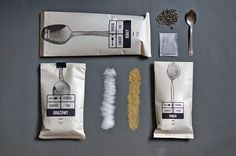 Package for sugar / 2013 by Martyna Wędzicka, via Behance