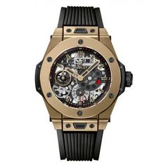 Marca: Hublot Serie: Big Bang Modello: 414.MX.1138.RX Tipo di movimento: a carica automatica / automatico Sesso: uomo Diametro orologio: 45 mm Materiale cassa: lucido Magic Gold Quadrante: scheletro nero opaco Fibbia: titanio Vetro: zaffiro con trattamento antiriflesso Cinturino: cinturino in caucciù strutturato nero Resistente all'acqua: 100 metri White Sharpie, Hublot Classic Fusion, Black Chalk Paint, Hublot Watches, Big Bang, Watch Sale, Watch Brands, Bangs, Rolex