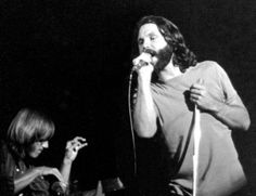 Jim Morrison & Ray Manzarek: The Doors, San Diego 1970, by Larry Hulst.