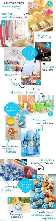 Inspiration Friday: Beach Party Ideas