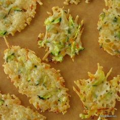 Parmesan Cheese Crisps Laced with Zucchini