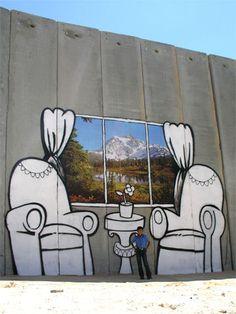 Windowseat. Palestine separation wall