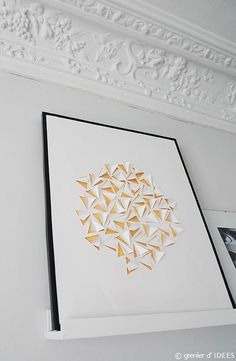 cortes y color Origami And Quilling, Origami And Kirigami, Origami Paper Art, Diy Origami, Diy Paper, Art Diy, Diy Wall Art, Dyi, Paper Cutting