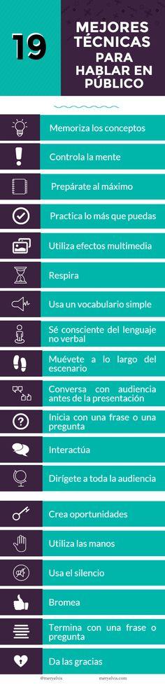 ⚜ Arte de la comunicación... 19 mejores técnicas para hablar en público