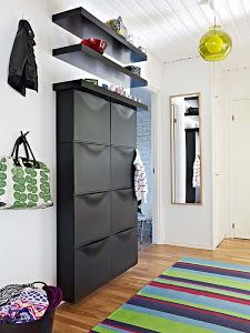 Ikea Trones with shelves for an entryway storage possibility. House Design, Decor, Ikea, Comfortable Furniture, Shoe Storage Ikea Hack, Home, Interior, Home Decor, Kitchen Floor Plans