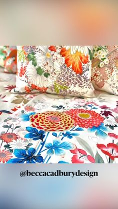 Japanese Textiles, Japanese Kimono, Textile Design, Floral Design, Upcycled Textiles, Luxury Cushions, Upcycled Home Decor, Japanese Interior, Bedroom Vintage