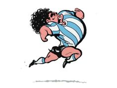 Diego (Maradona) tribute animation by Mehdi Alibeygi.