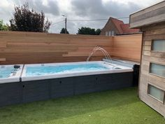 Installation of a Semi-Inground TidalFit by NEA Piscine et Spa! #AboveGroundPool #ExercisePoolo #Spa Family Fitness, Life Aquatic, Above Ground Pool, Fitness Motivation, Swimming, Backyard, Exercise, Outdoor Decor, Pool Spa