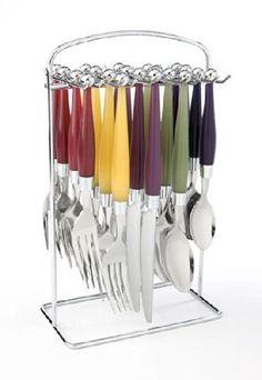 Amazon.co.jp: Cambridge Silversmiths [ケンブリッジ シルバースミス] カラフルで遊び心のあるデザインのカーニバルの食器 Carnival 20-Piece Flatware Set, Service for 4 【並行輸入品】: ホーム&キッチン