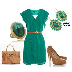 Nude & Green, created by r-viviane16 on Polyvore