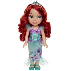 For every girl who dreams big, there's a Princess to show her it's possible.Dressed in her story inspired gown and tiara, Disney Princess Ariel explores the land above the sea. Join Ariel as she discovers new adventures and far off places. Disney Princess Toddler Dolls, Disney Princess Ages, New Disney Princesses, Disney Dolls, Cinderella Doll, Ariel Doll, Mattel Barbie, Ariel Bebe, Baby Alive