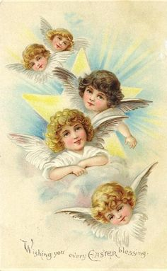 Oude kaarten van Pasen