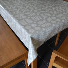 grey welsh blanket print oilcloth tablecloth by adra | notonthehighstreet.com