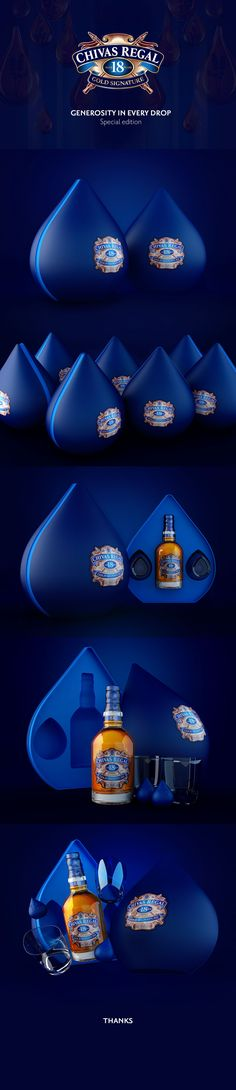 Chivas 18 - Generosity in every drop on Behance by Camila Venegas, Bogotá, Colombia. Chivas 18 is generosity in every drop, the drop is the principal object of brand communication and it was the muse for this special edition. Advertising, art direction, packaging.