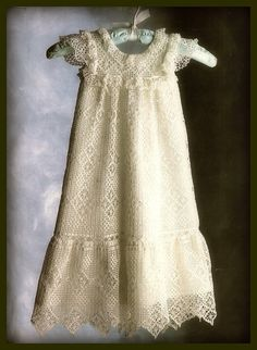 Crochet PATTERN For Lacy Vintage Christening Gown Only, Infant 0 - 6 months, Crochet, Handmade, Pattern Only,
