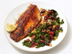 Blackened Trout With Spicy Kale recipe from Food Network Kitchen via Food Network
