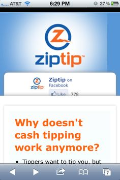 New mobile-responsive ziptip.net site for 25% of Ziptip's users who are using mobile devices!