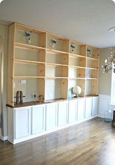 DIY Built In Bookshelf
