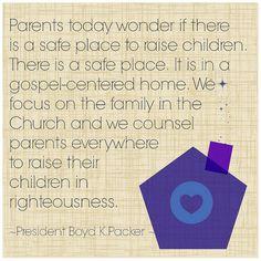 "President Boyd K. Packer: ""The key to spiritual protection"" #LDSConf"