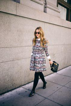 Gal Meets Glam Jacquard Collared Dress